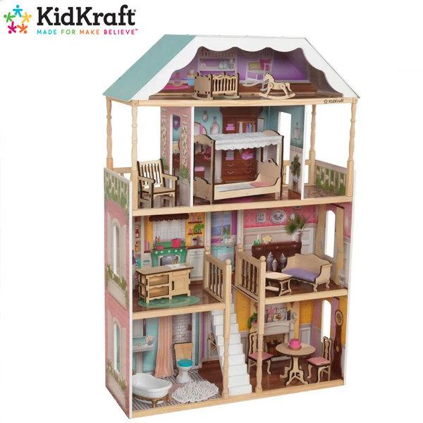 KidKraft Детска дървена куклена къща Charlotte 65956