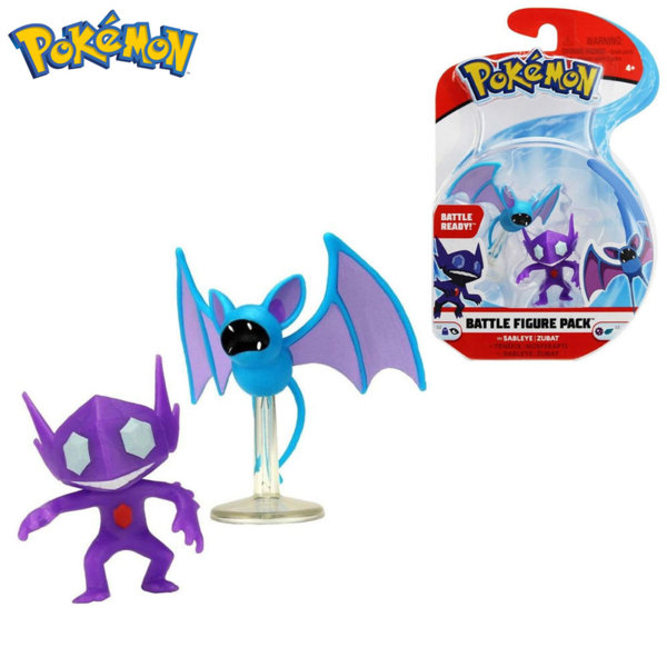 Pokemon Комплект бойни фигурки Покемон Sableye & Zubat 95011