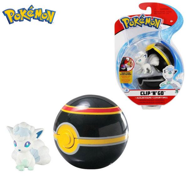 Pokemon Clip 'n' Go Фигурка Alolan Vulpix в топче Pokeball 95061