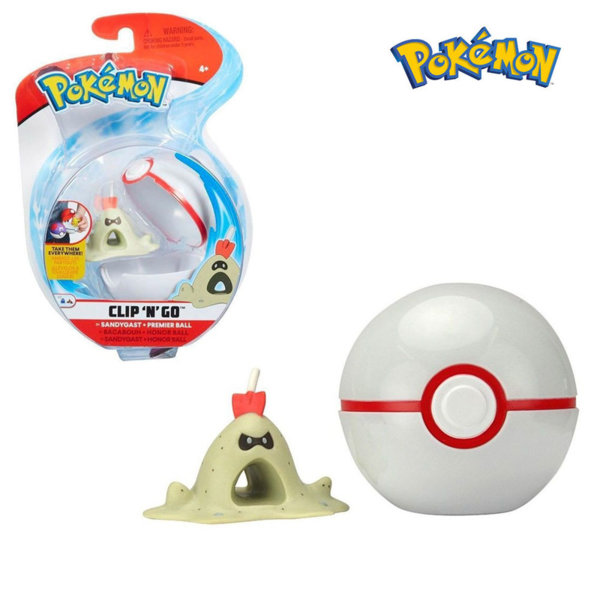Pokemon Clip 'n' Go Фигурка Sandygast в топче Pokeball 95061