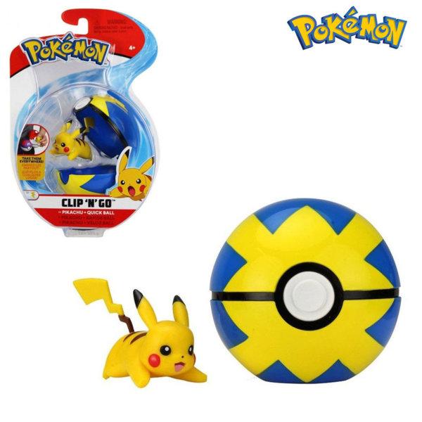 Pokemon Clip 'n' Go Фигурка Pikachu в топче Pokeball 95061
