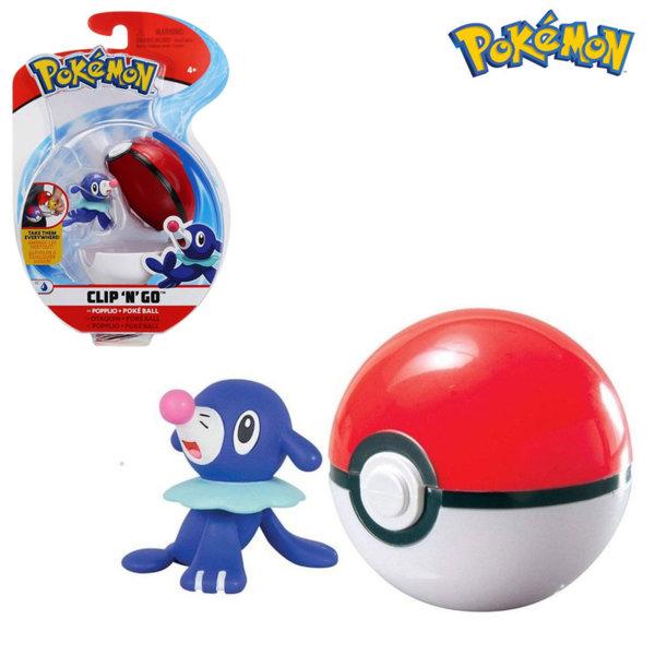 Pokemon Clip 'n' Go Фигурка Popplio в топче Pokeball 95061