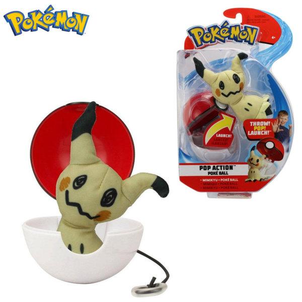 Pokemon Pop Action Плюшена фигурка Mimikyu в топче Pokeball 95091