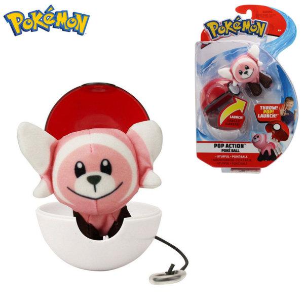 Pokemon Pop Action Плюшена фигурка Stufful в топче Pokeball 95091