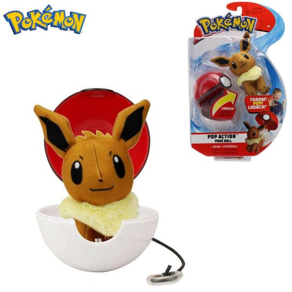 Pokemon Pop Action Плюшена фигурка Eevee в топче Pokeball 95091