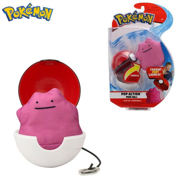 Pokemon Pop Action Плюшена фигурка Ditto в топче Pokeball 95091