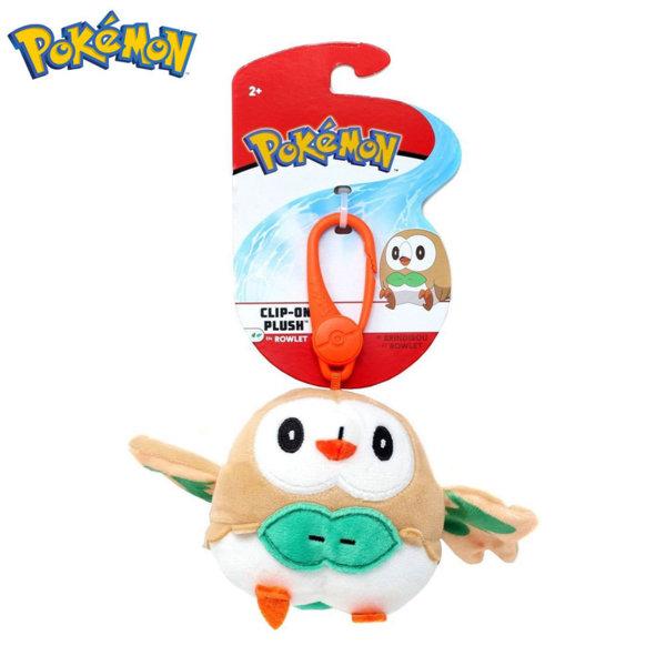 Pokemon Плюшена играчка с клипс Покемон Rowlet 95171