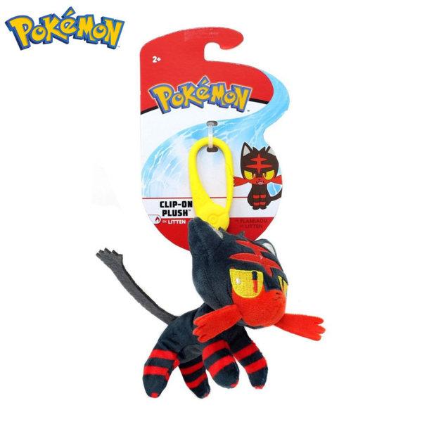 Pokemon Плюшена играчка с клипс Покемон Litten 95171