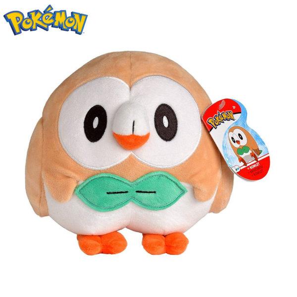 Pokemon Плюшена играчка Покемон Rowlet 20см 95351