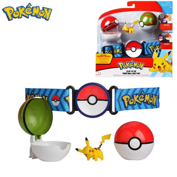 Pokemon Clip 'n' Go Колан с две топчета Pokeball и фигурка Пикачу 95282