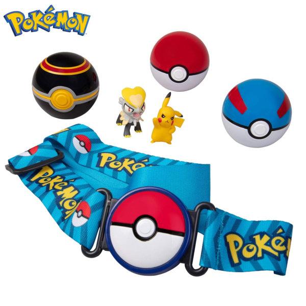 Pokemon Clip 'n' Go Колан с три топчета Pokeball и две фигурки Покемон 95165