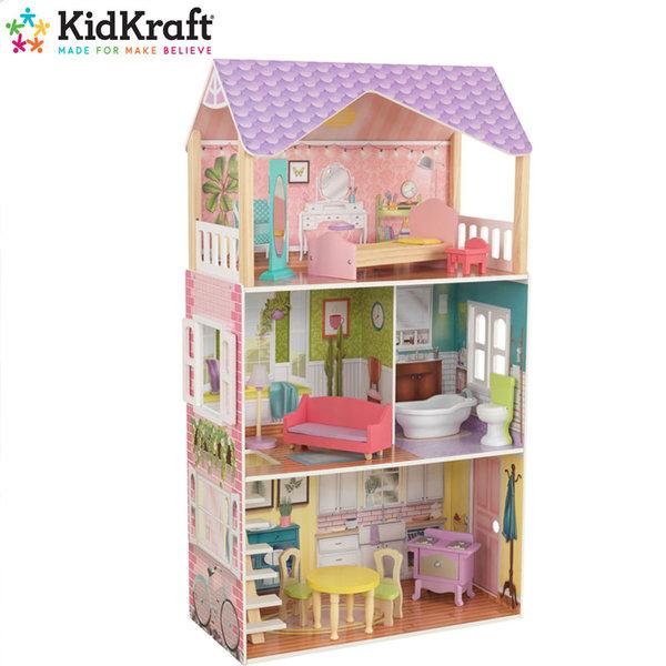 KidKraft Дървена куклена къща Poppy 65959