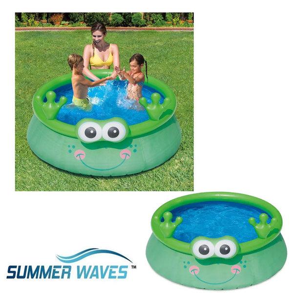 Summer Waves Детски надуваем басейн Жаба 175 х62см 19742
