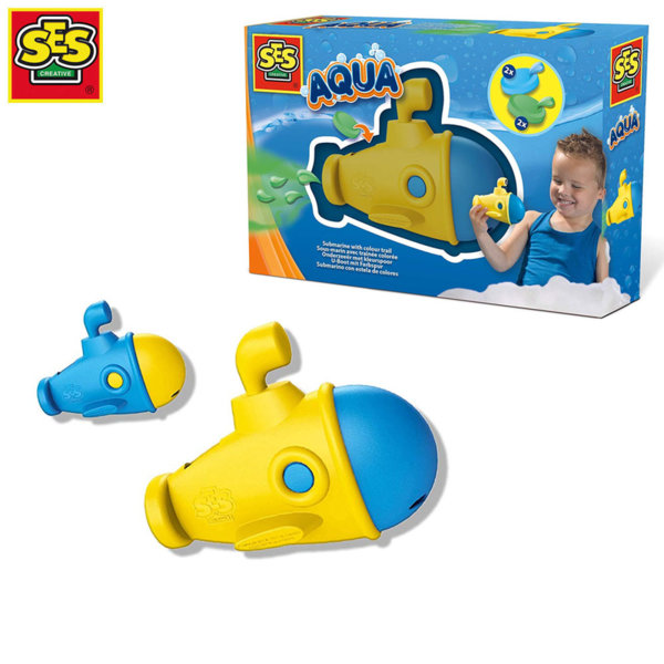 SES Creative Играчка за баня Подводница с цветна диря 13069