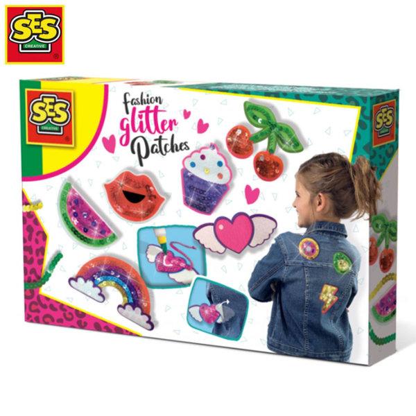 SES Creative Детски нашивки с пайети 14143