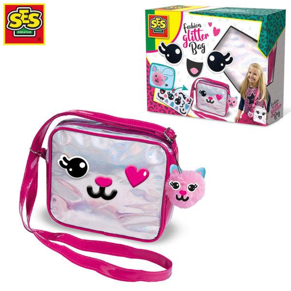 SES Creative Декорирай модерна чанта с брокат 14144