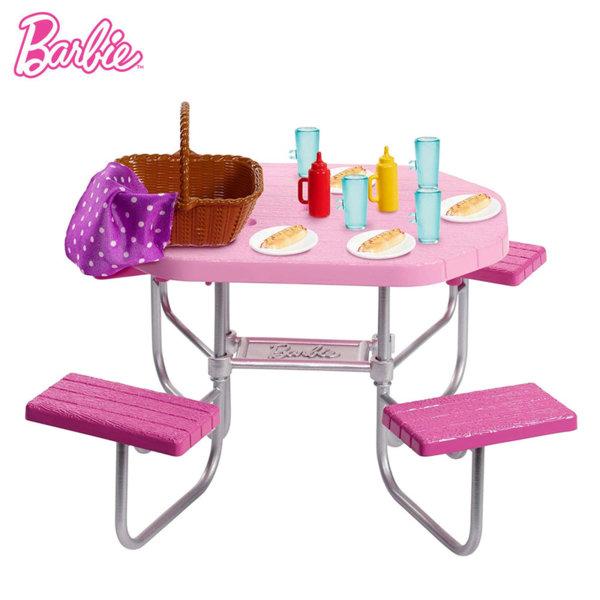 Barbie Градински мебели Маса за пикник FXG37