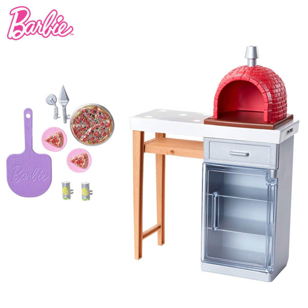Barbie Градински мебели Пещ за пица FXG37