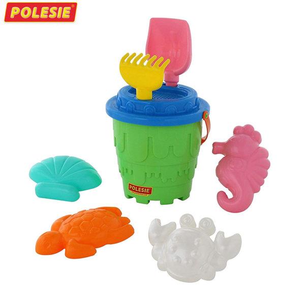 Polesie Кофа с формички за пясък Замък 51851