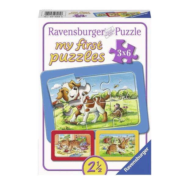 Ravensburger Пъзел 2+ Домашни животни 3в1 07062