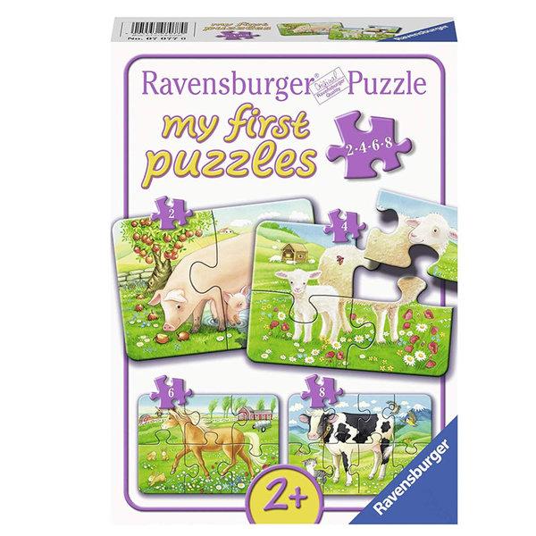 Ravensburger Пъзел 2+ Животните от фермата 4в1 07077