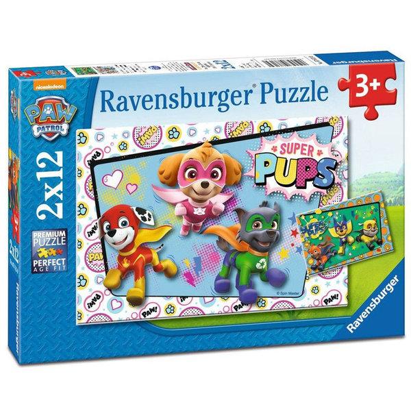 Ravensburger Пъзел 3+ Paw Patrol Пес Патрул 2х12 части 07613