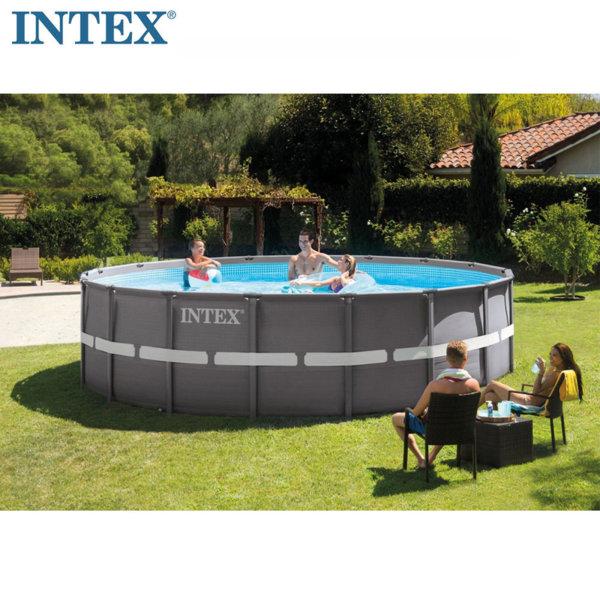 Intex  Басейн с метална рамка и пясъчна филтърна помпа Ultra Frame 610х122см 26334