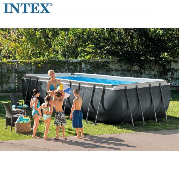 Intex Сглобяем басейн Ultra XTR Rectangular Frame с филтърна помпа 549х274х132см 26356