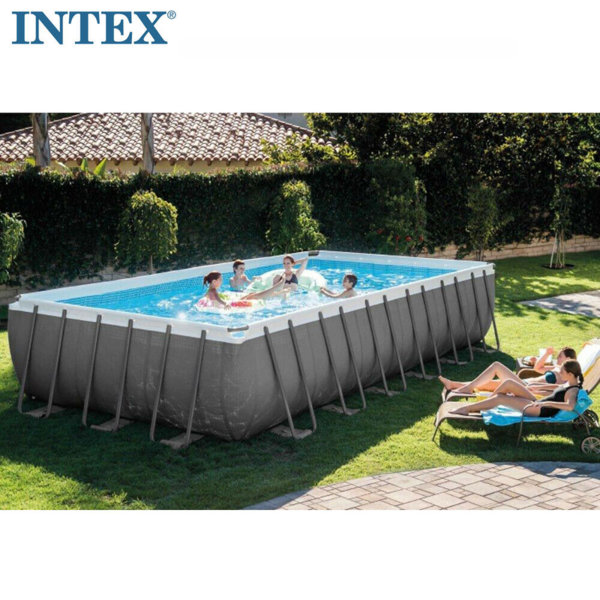 Intex Сглобяем басейн Ultra XTR Rectangular Frame с филтърна помпа 732x366x132см 26364