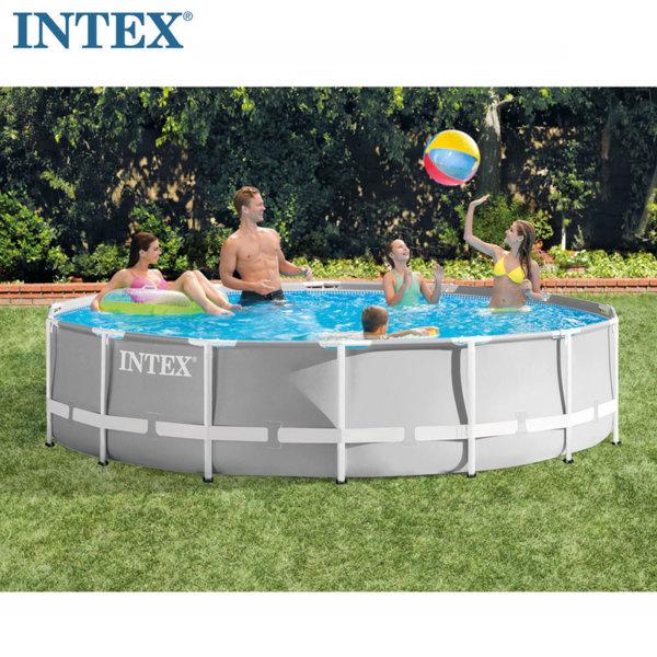 Intex Сглобяем басейн Prism Frame с филтърна помпа 427x107см 26720