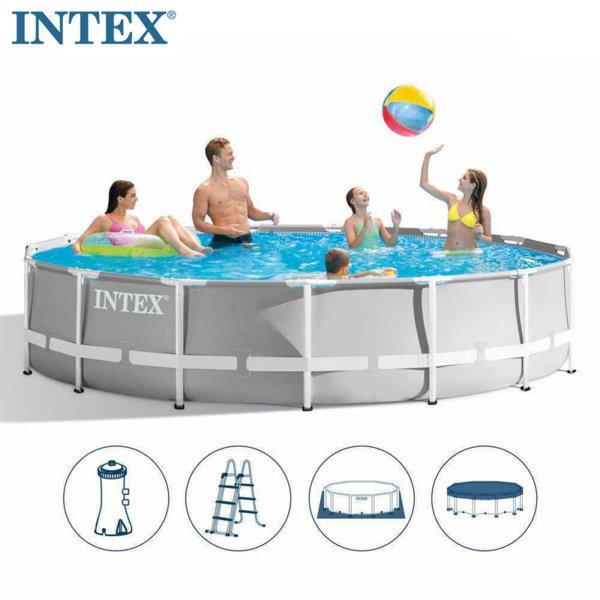 Intex Сглобяем басейн Prism Frame с филтърна помпа 457x107см 26724