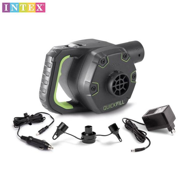 Intex Електрическа помпа със зарядн и адаптор Quick-Fill 66642