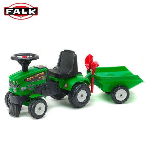 Falk Трактор за бутане с крачета с ремарке, гребло и лопата 1081C
