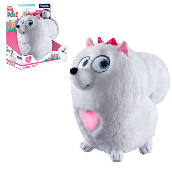 Secret Life of Pets Плюшена играчка нощна лампа Сами вкъщи Гиджет 15643101111