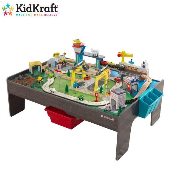 KidKraft Детски дървен град с превозни средства и маса 18026