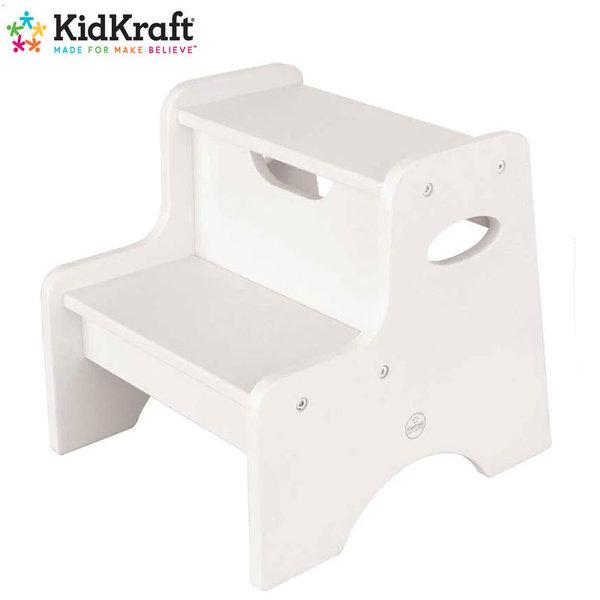KidKraft Детско дървена стълба с 2 стъпала white 15501