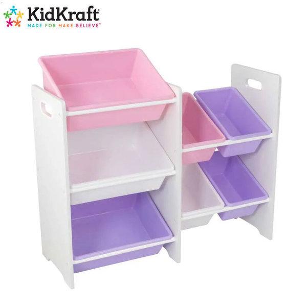 KidKraft - Детска дървена етажерка за играчки white 15471