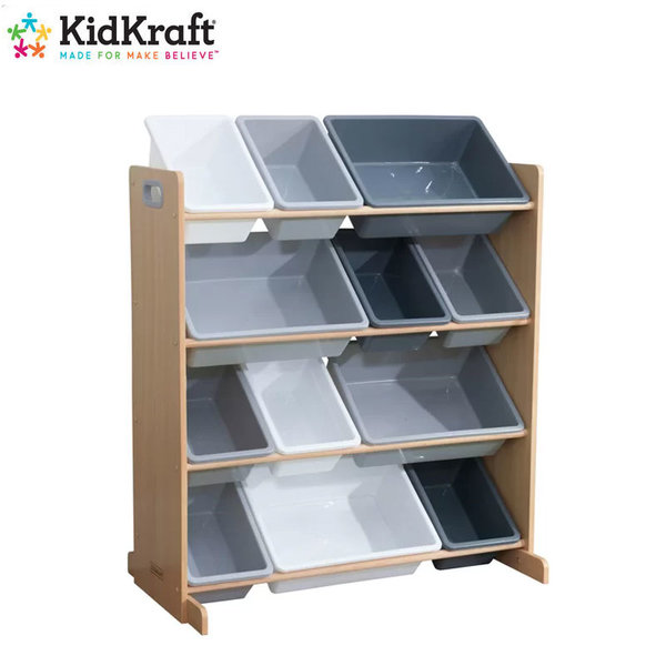 Kidkraft - Детска дървена етажерка за играчки 10041