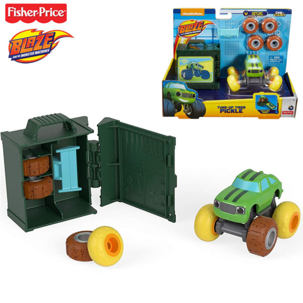 Fisher Price Blaze and the Monster Количка със сменящи се гуми Pickle fhv37