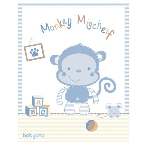 BabyOno бебешко одеяло Маймунка Deluxe 1409