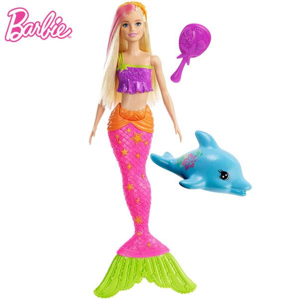 Barbie Кукла Барби русалка с делфинче пръскащо вода GGG58