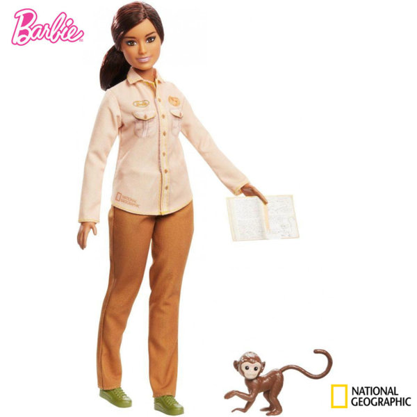 Barbie National Geographic Кукла Барби изследователка Защитник на дивата природа GDM44
