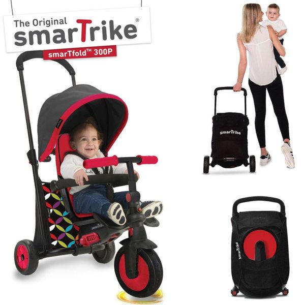 SmarTrike Сгъваема триколка с родителски контрол 6в1 SmarTfold 300 червена 5020511