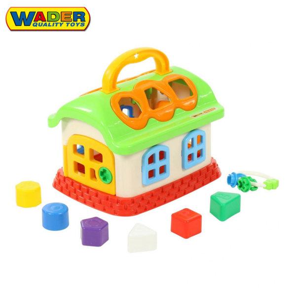 Wader Детска къщичка с формички за сортиране 48745