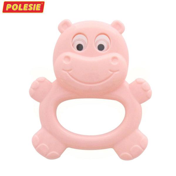 Polesie Бебешка дрънкалка-чесалка Хипопотам 61805
