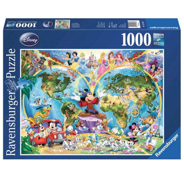 Ravensburger Пъзел Disney Карта на света 1000 части 15785