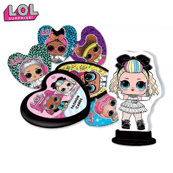 Lisciani LOL Surprise Картонена кукличка и модни карти в кутийка сърце 73764