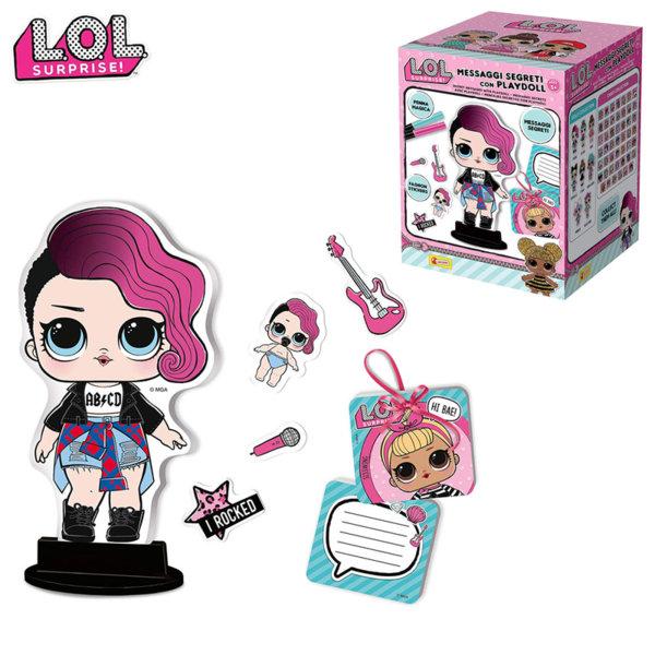 Lisciani LOL Surprise Картонена кукличка с тайни писма 69460