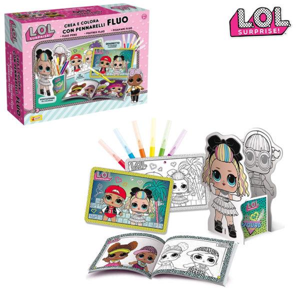 Lisciani LOL Surprise Комплект за оцветяване с флуоресцентни маркери 75096