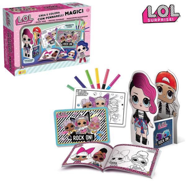 Lisciani LOL Surprise Комплект за оцветяване с магически маркери 75089